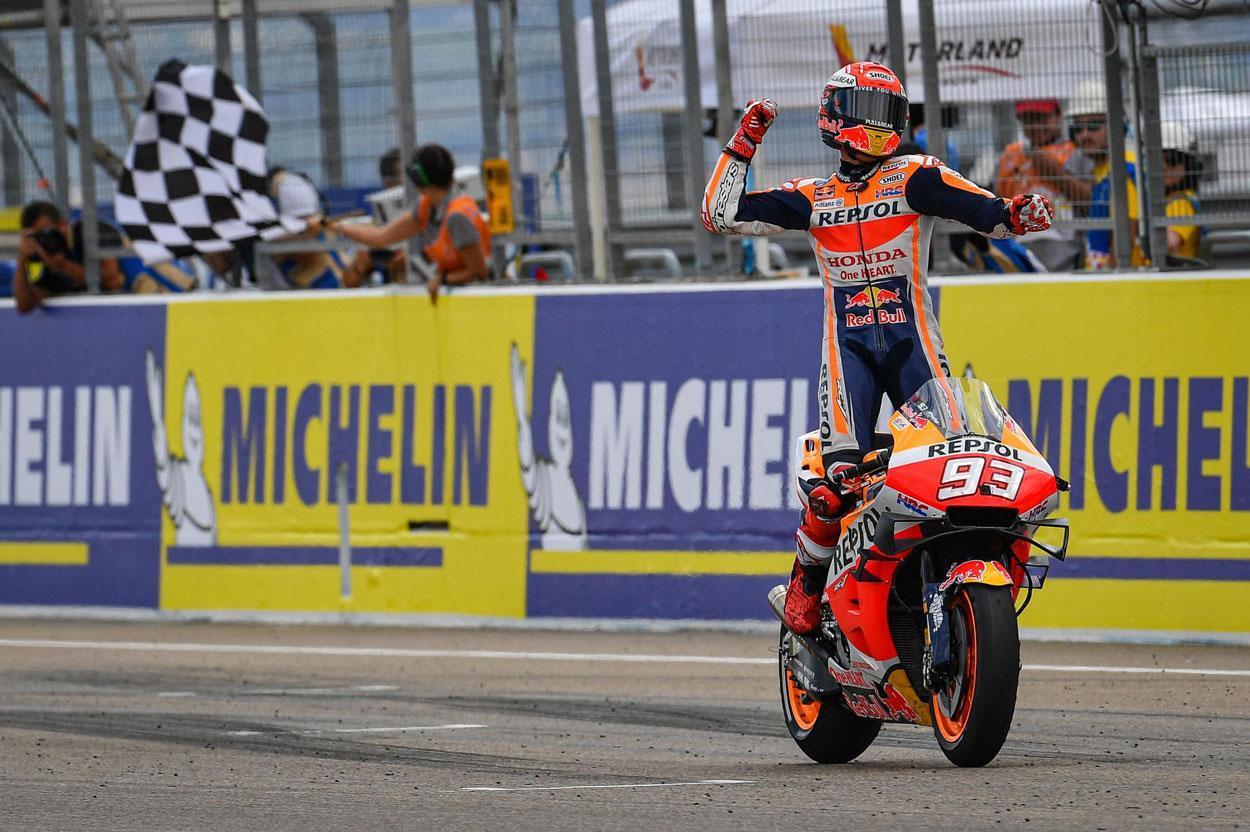 Marc Márquez logra la victoria en el GP de Aragón 2019