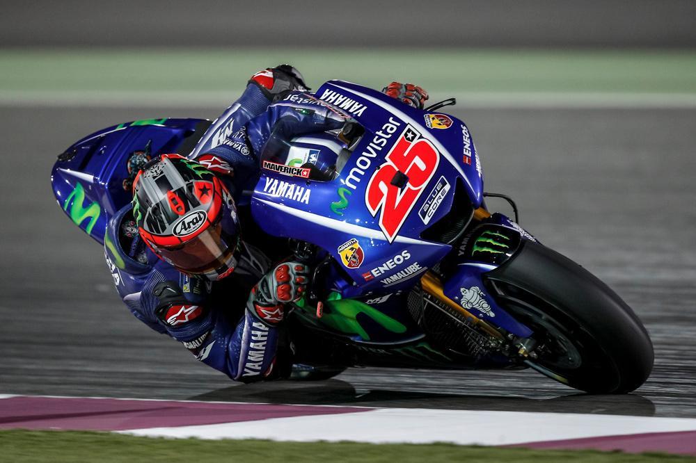 Maverick Viñales, mejor tiempo en los entrenamientos MotoGP en Qatar