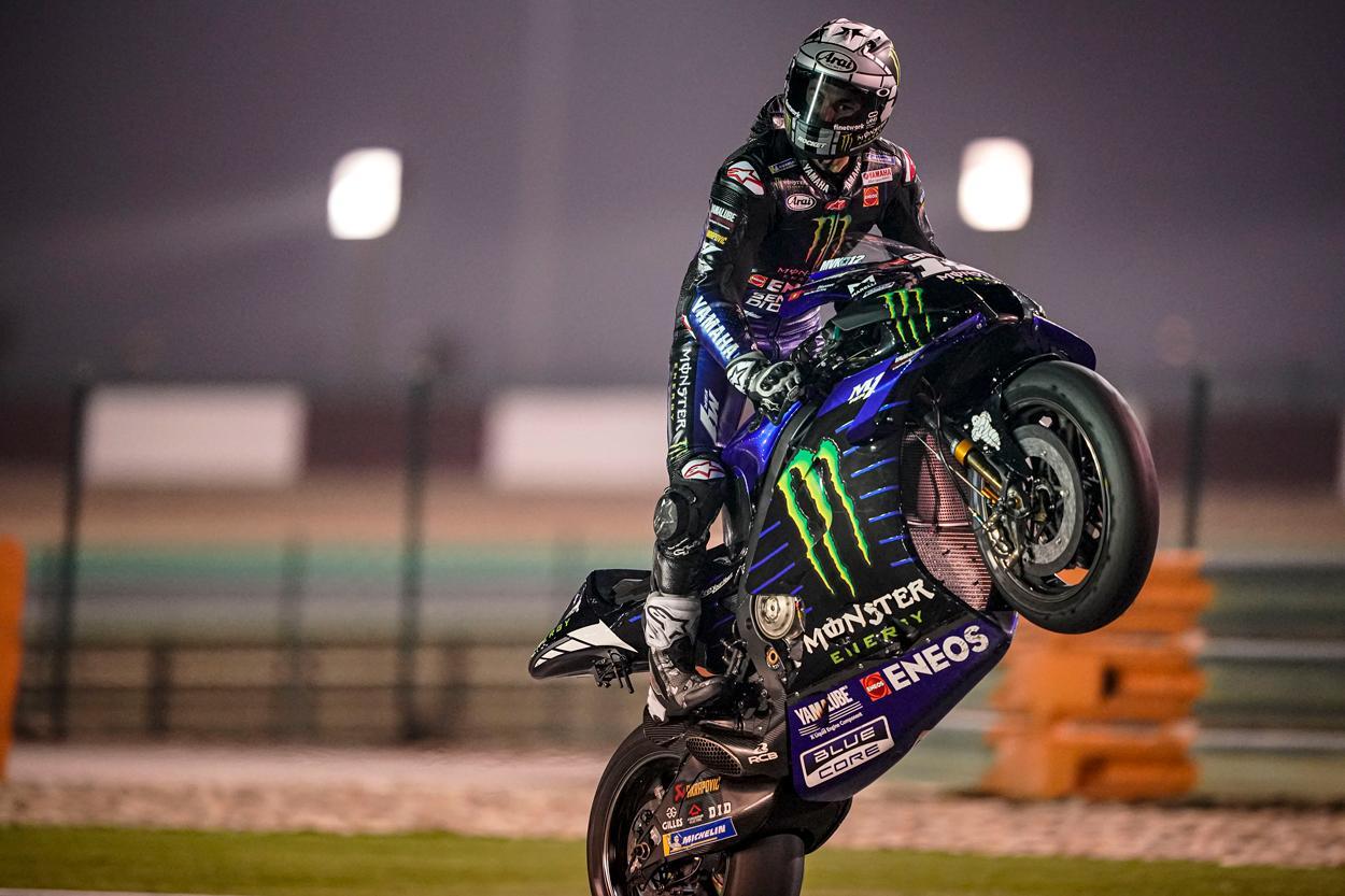 Maverick Viñales se llevó los mejores tiempos de los entrenamientos MotoGP en Qatar