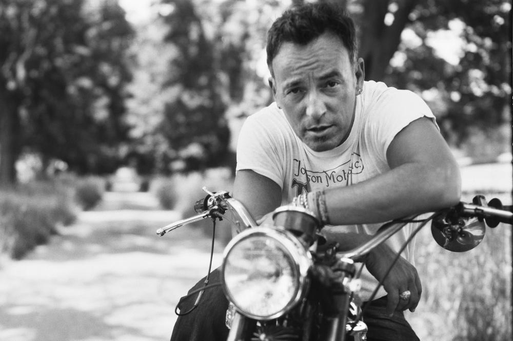 Bruce Springsteen con una Triumph