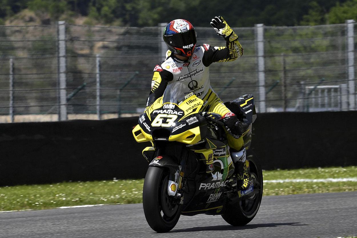 Pecco Bagnaia, mejor tiempo de los entrenamientos del viernes del GP de Italia