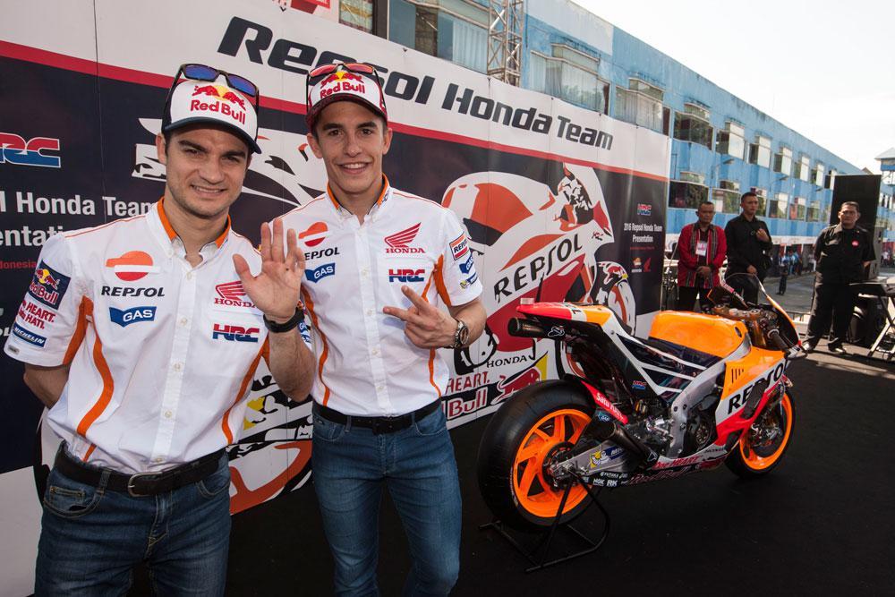 Presentacion del equipo Repsol Honda MotoGP 2016