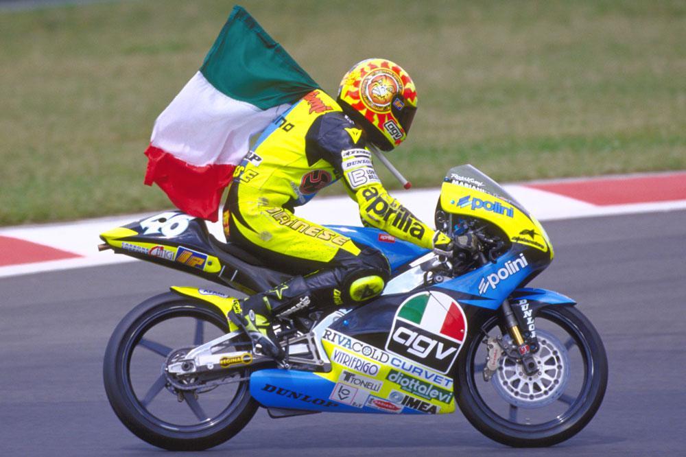 Primera victoria de Valentino Rossi en 1996