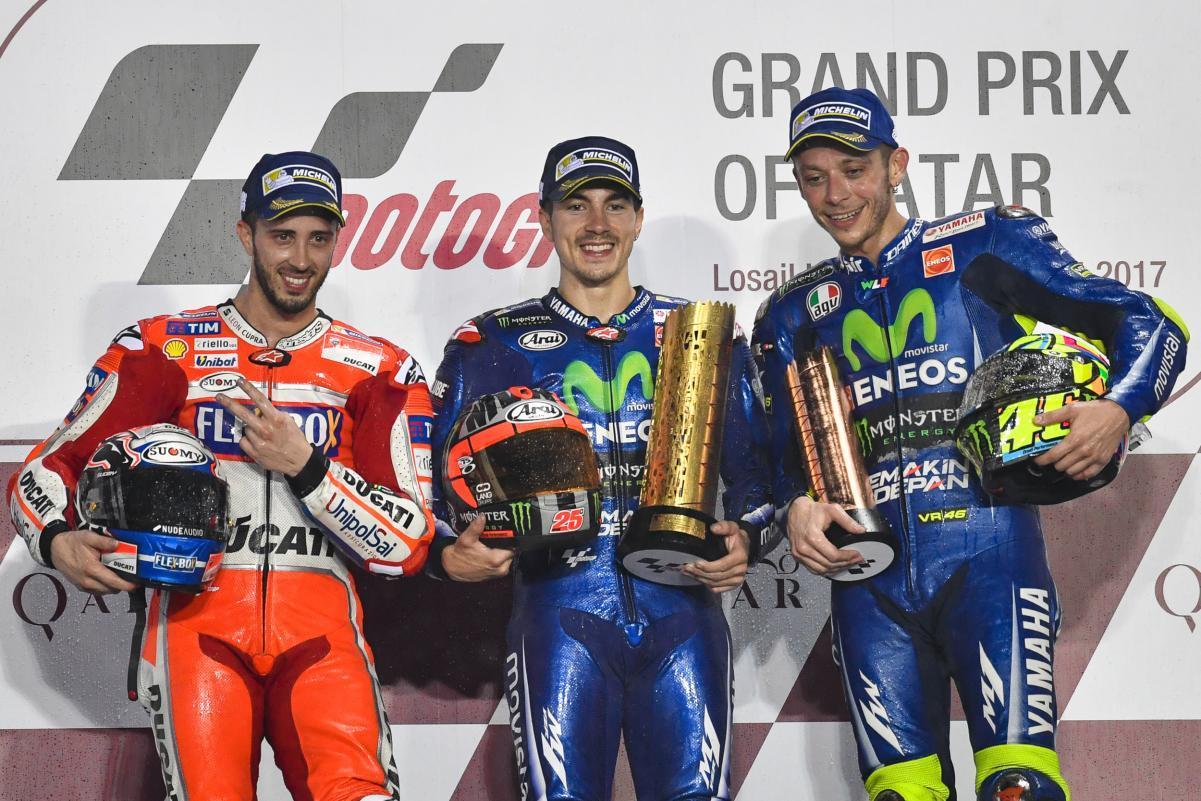 Podio MotoGP Qatar 2017