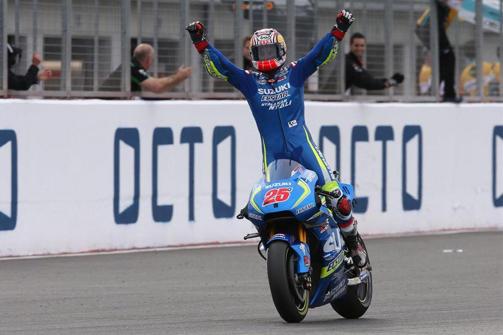 Maverick Viñales logra la victoria para Suzuki en MotoGP