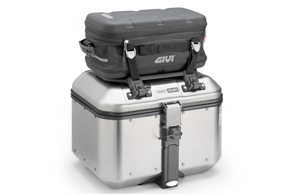 Top Case para moto GIVI Trekker con respaldo
