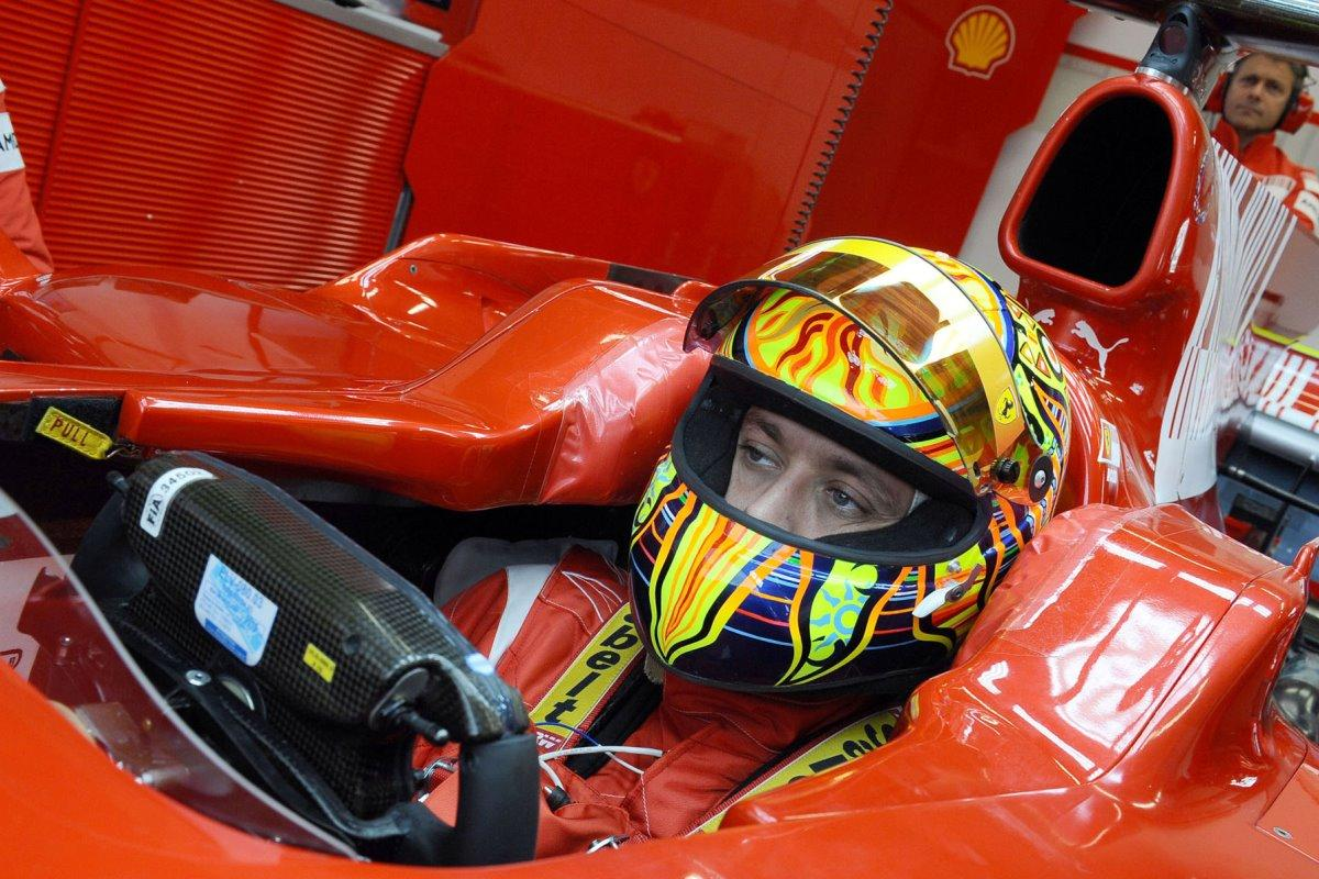 Valentino rossi Ferrari F1 Michael Schumacher