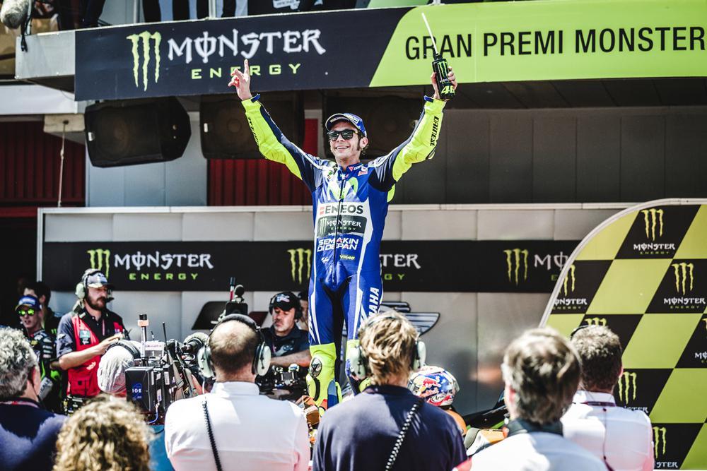 Victoria de Valentino Rossi en el GP de Catalunya