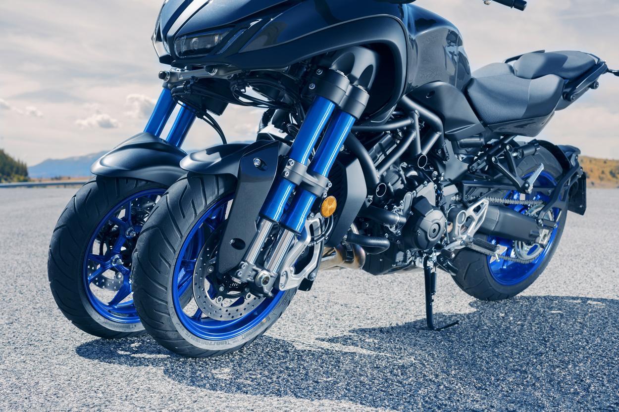 Suspensión delantera del Yamaha Niken
