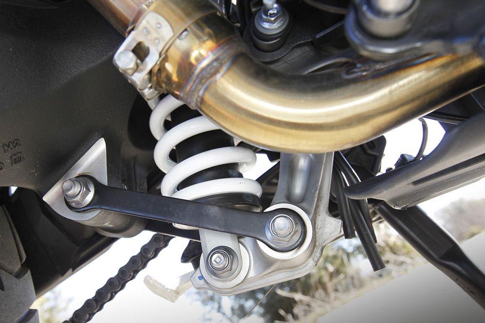 Suspensiones de la Triumph Tiger 800 XRX