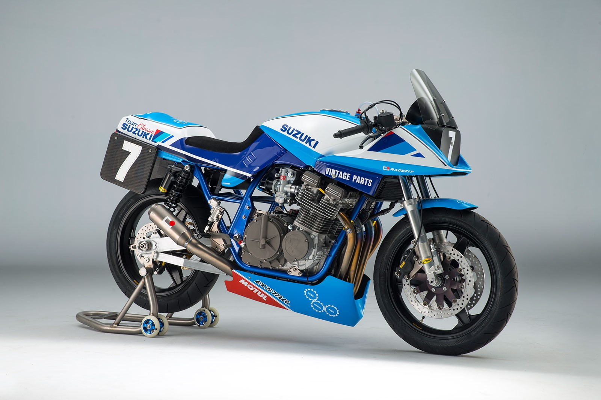 Guy Martin suzuki katana GSX1100SD team classic suzuki