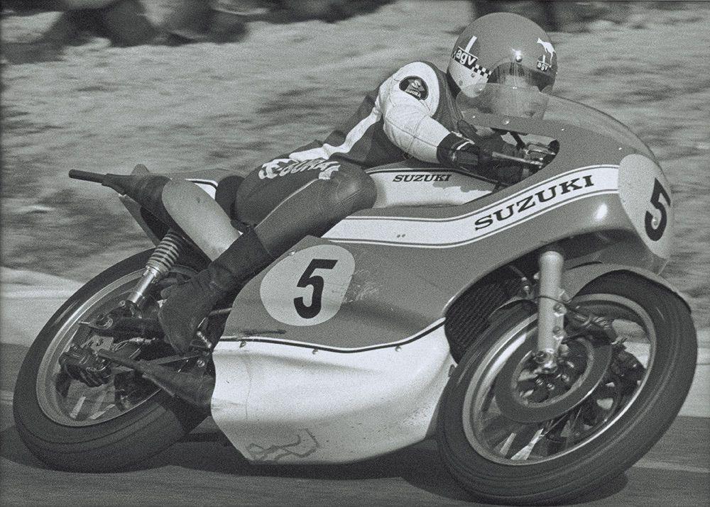 Jack Findlay con Suzuki en 1974