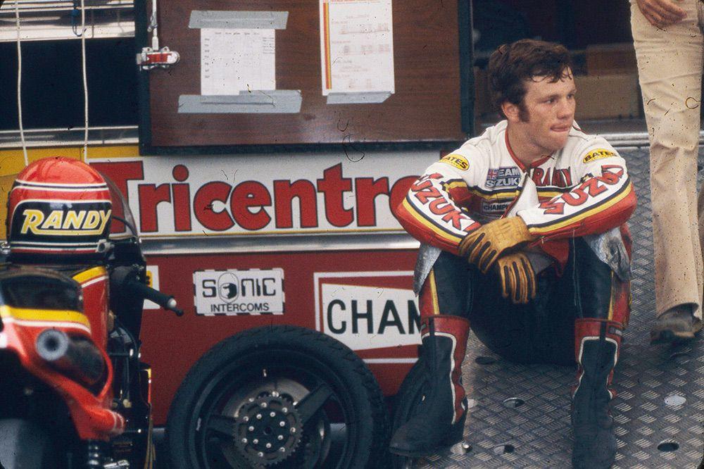 Randy Mamola con Suzuki en 1980