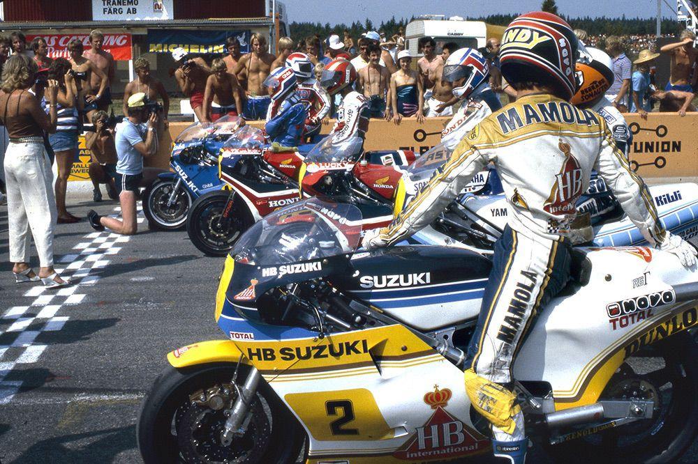 Randy Mamola en Suecia 1982