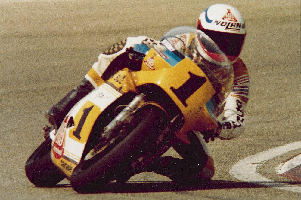Uncini con Suzuki en 1983