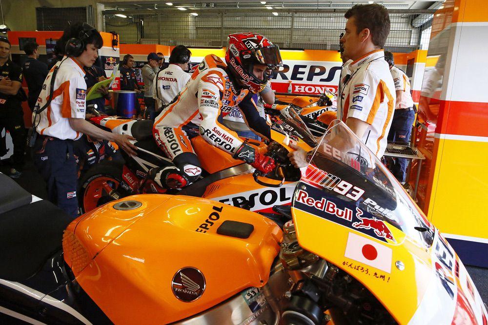 Tecnica MotoGP Le Mans: aletas y cigüeñales contrarrotantes