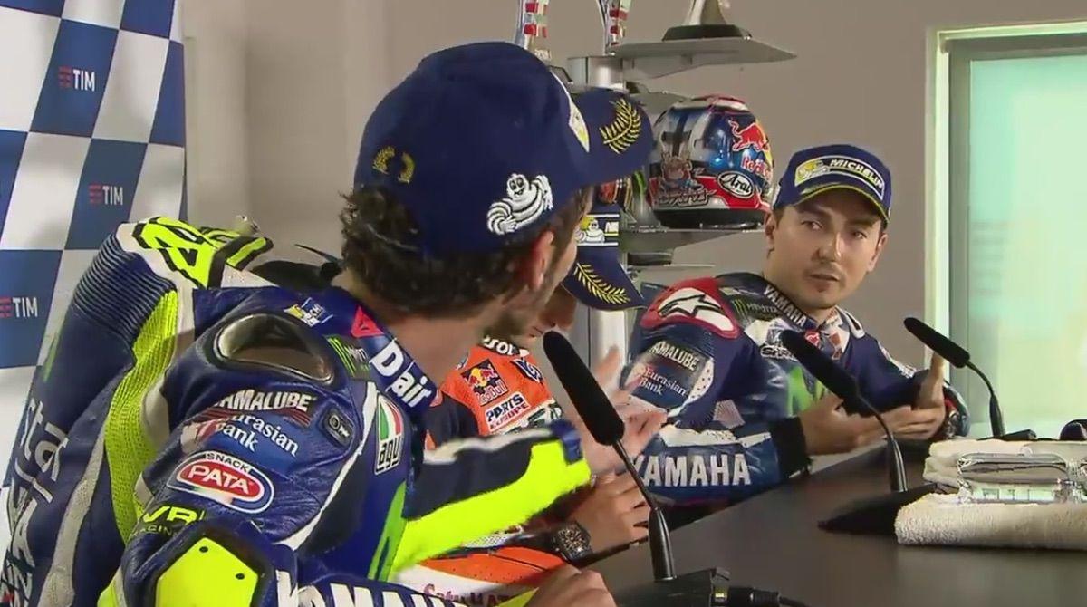 Rossi y Lorenzo rueda de prensa San Marino