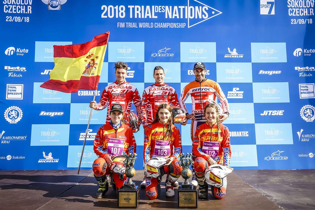 Equipo masculino y femenino de España en el Trial de las Naciones 2018