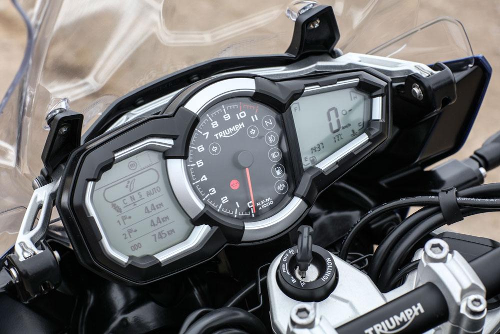 Instrumentación de la Triumph Tiger Explorer 1200