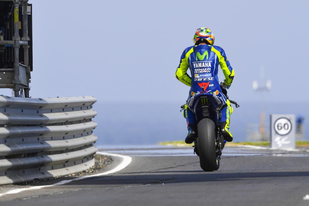 Rossi en el FP2 del GP de Australia