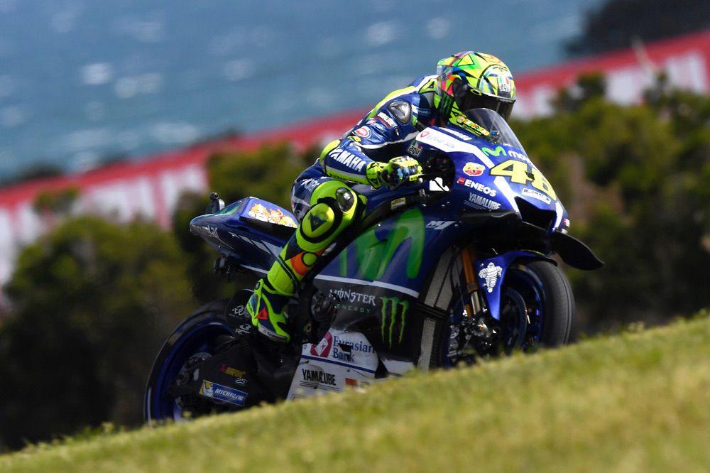 Valentino Rossi durante el GP de Australia de MotoGP