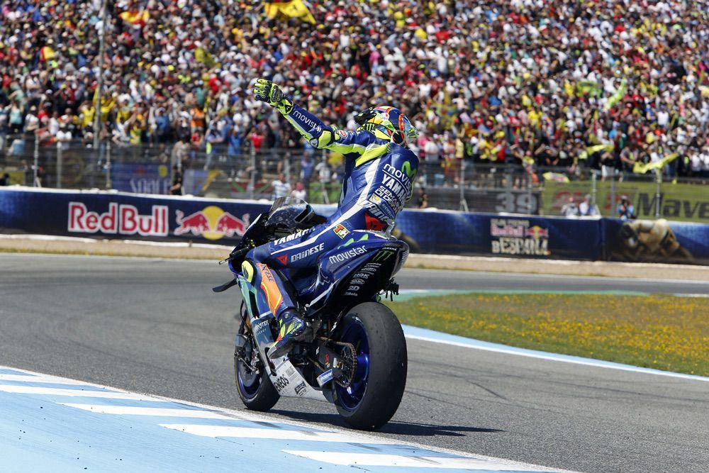 Valentino Rossi, victoria en el GP de Jerez