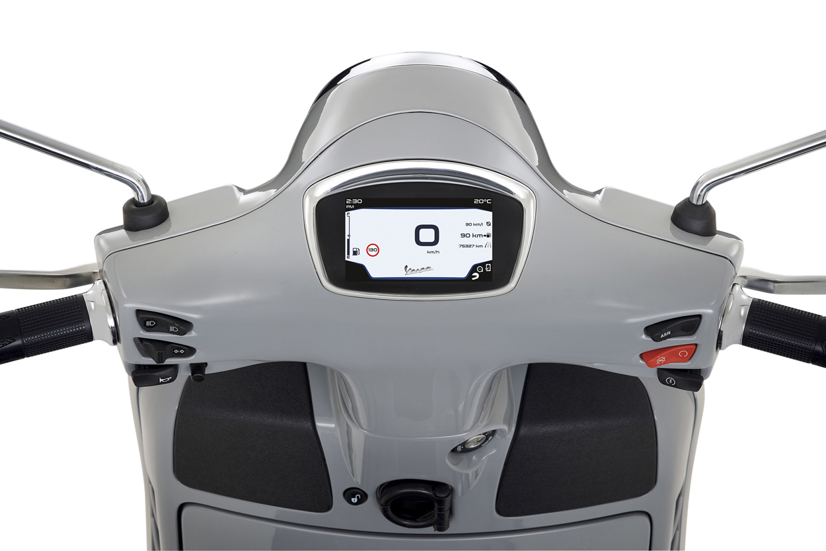 Instrumentacion de la Vespa GTS Supertech