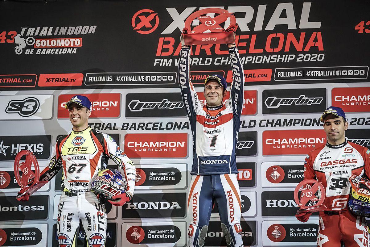Podio X-Trial Barcelona 2020