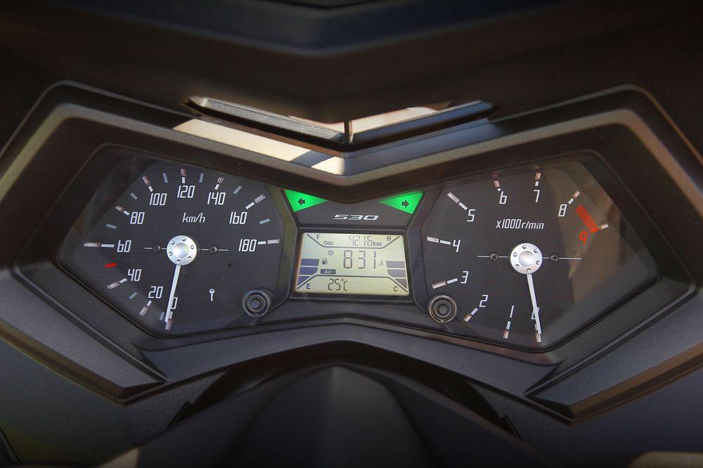 Instrumentación del Yamaha T Max 530